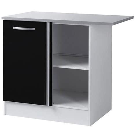 meuble bas d angle de cuisine noir 100 cm h 86 x l 100 x