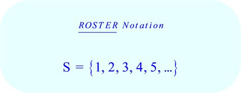 roster pattern meaning set builder notation for natural numbers