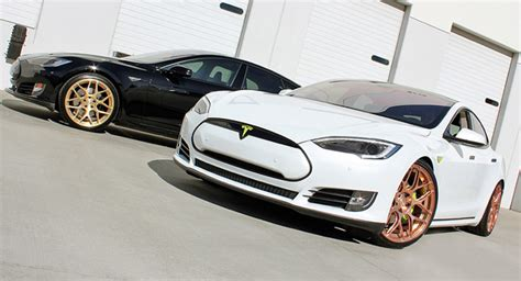 rose gold car what do you think about tesla model s with yellow and rose