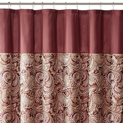 madison park laurel shower curtain madison park aubrey polyester jacquard shower curtain ebay