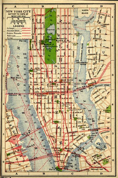 manhattan map new york county new york maps and gazetteers