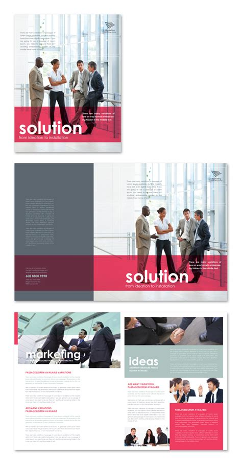 Marketing Consultant Brochure Template Marketing Consultant Website Template