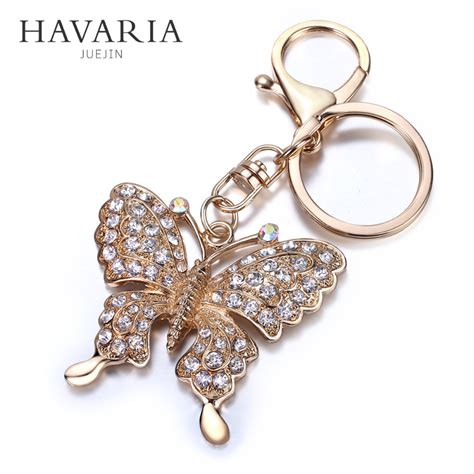 Found Bling Tastic Rhinestone Keyrings by Get Cheap Butterfly Keychains Aliexpress