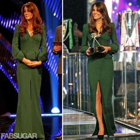 middleton green mcqueen dress popsugar
