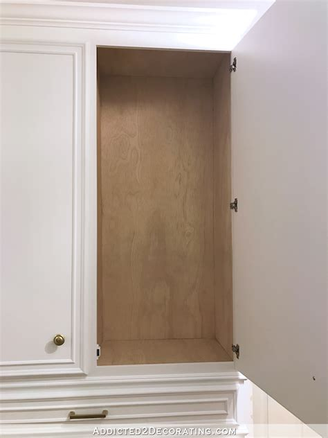 finish plywood for cabinets diy hallway cabinets all painted and practically finished