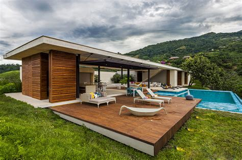 Modern Country Homes | sustainable modern country home in colombia drawing in the