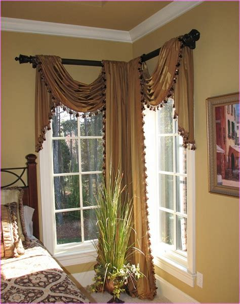 drapery rods for corner windows corner curtain rod curtains curtain rods for corner