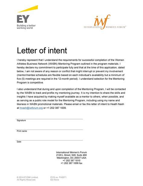 letter intent business school sample letter