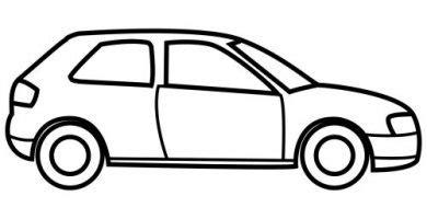 imagenes para colorear un carro dibujos y colores
