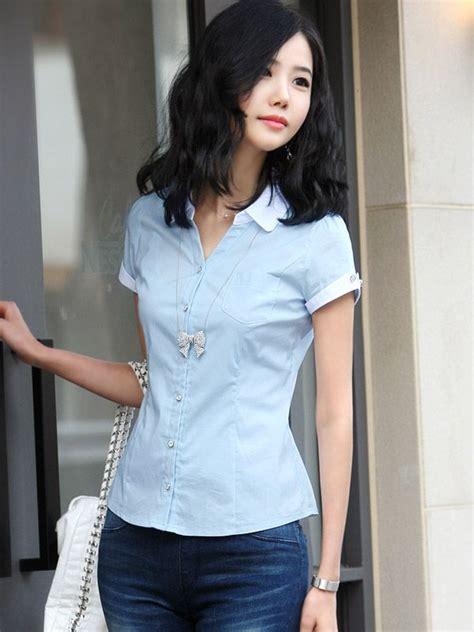 Japanese Style Blouse japanese style sleeve slim fit chiffon blouse