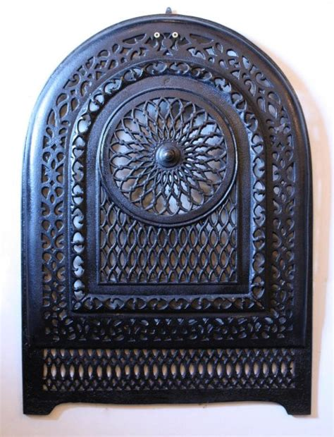 amazing antique cast iron arched summer cover early 1900