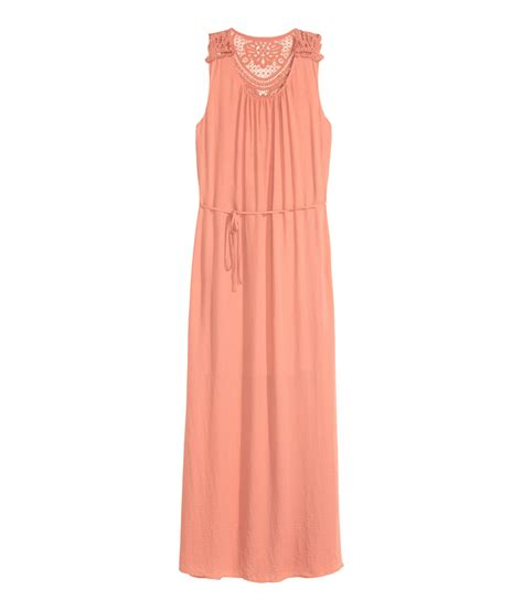 h m maxi dress in pink lyst