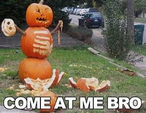 Funny Halloween Meme - funny halloween pumpkin come at me bro jokes memes
