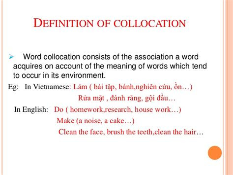 define collocate collocation