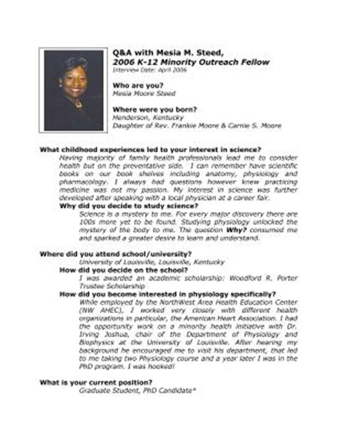 sle biography template for students lifescitrc org q a with mesia steed 2006 aps k 12