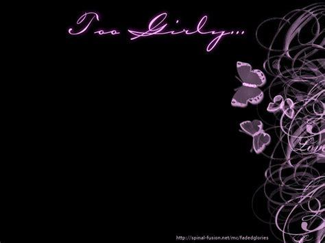 Girly Black Wallpaper | too girly v black wallpaper fanpop girls wallpaper