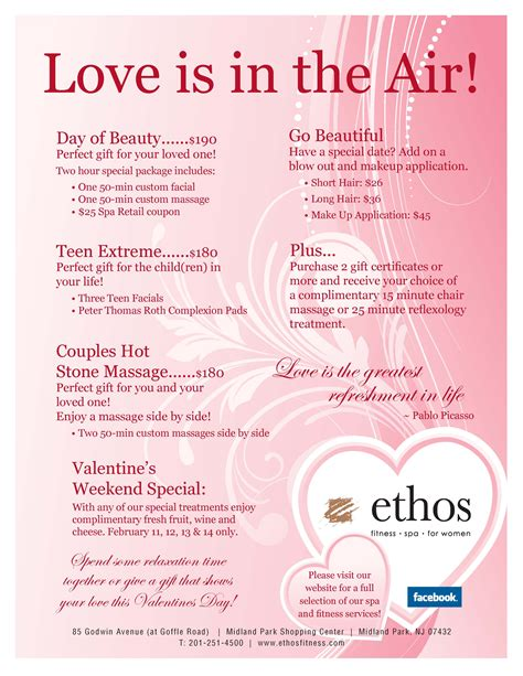 valentines spa specials ethos fitness spa for just another