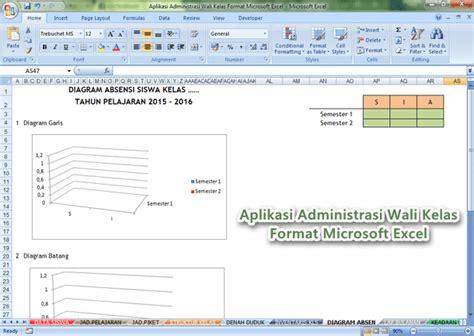 format laporan wali kelas aplikasi administrasi wali kelas format microsoft excel