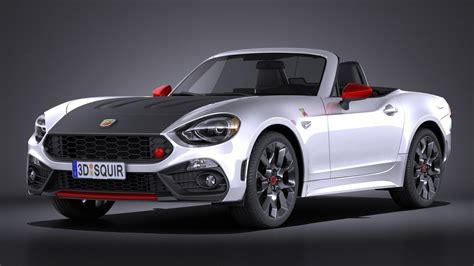 fiat 124 spider abarth 2017 3d model max obj 3ds fbx c4d