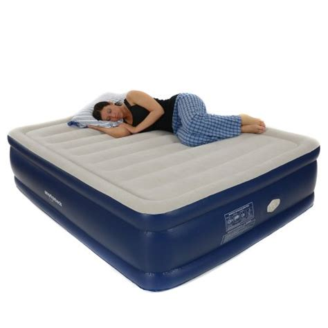 smart air beds smart air beds platinum queen raised air bed with remote