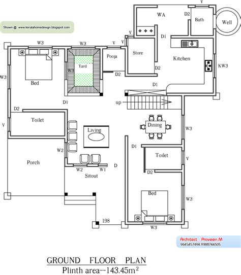 kerala style houses with elevation and plan august 2010 kerala home design and floor plans