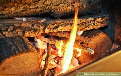 how to light a fireplace how to light a in a fireplace with pictures wikihow
