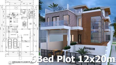 7 bedrooms modern home design plan 12mx20m
