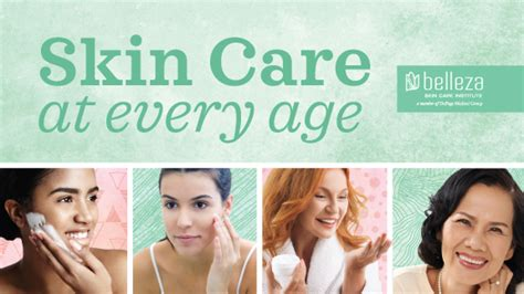 Belleza Skin Care infographic skin care through the ages belleza skin care