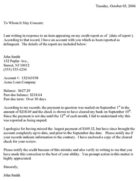 Sle Dispute Letter To Apartment Complex Redit Dispute Letter Template Credit Dispute Letter Templates And Template