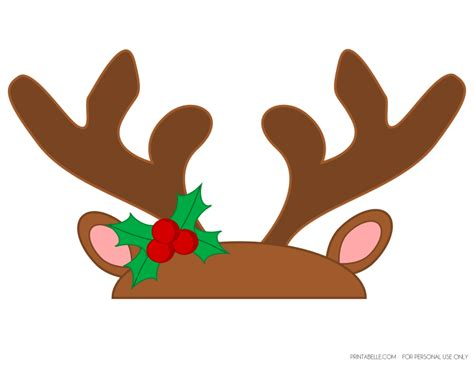 printable reindeer antlers free reindeer games party printables from printabelle