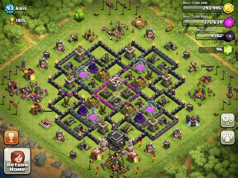 layout level 9 clash of clans clash of clans tips town hall level 9 layouts