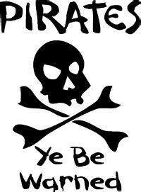 Sticker Cutting Terror Skull pirate clip free printable illustration of pirate