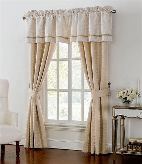 dillards draperies waterford britt metallic scroll foulard window treatments