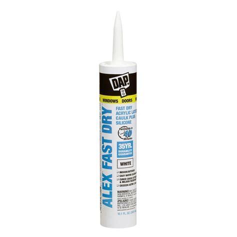 fast drying bathroom caulk dap alex fast dry 10 1 oz acrylic latex plus silicone caulk 1 296 unit pallet