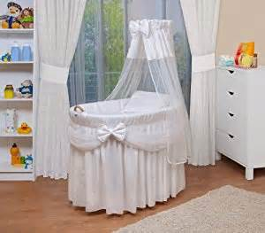 Moving Baby From Moses Basket To Crib Waldin Baby Wicker Cradle Moses Basket 4 Colours Available White Co Uk Baby