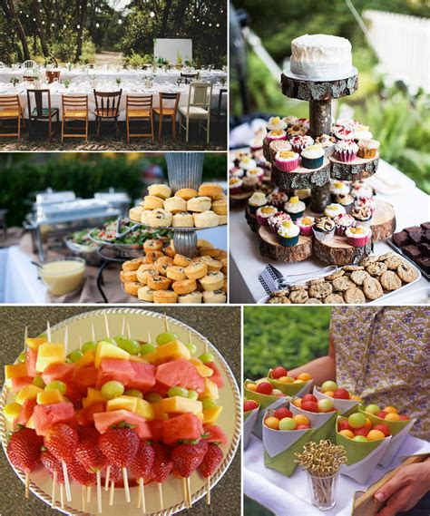backyard food outside wedding reception food ideas unusual navokal com