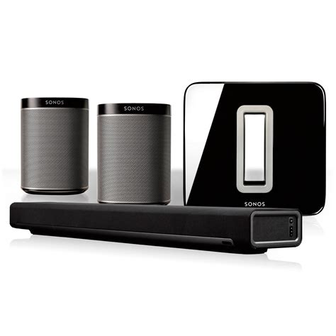sonos 5 1 home theater system with play 1 pair playbar