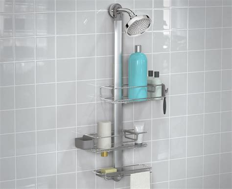 Simple Bathroom Decorating Ideas Pictures simplehuman adjustable stainless steel shower caddy plus