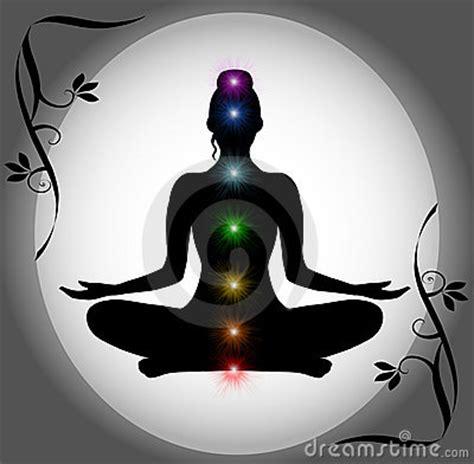 meditation silhouette  chakra points royalty