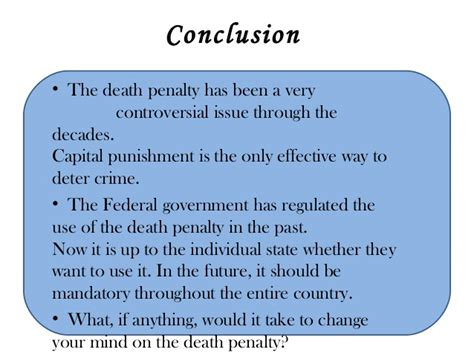 How To Conclude An Essay On The Penalty by Capital Presented By Fahad Bokhari