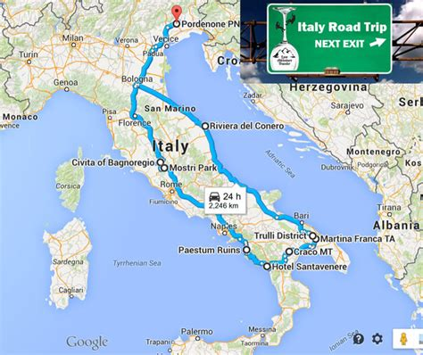 track my trip map italy the beaten path road trip viterbo