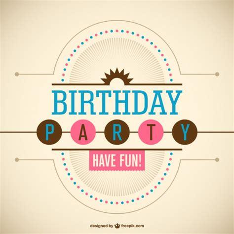 Word Vorlage Happy Birthday geburtstagsparty vektor vorlage der kostenlosen vektor
