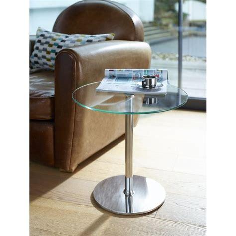 small circular glass table buy gillmore space small circular glass side table from