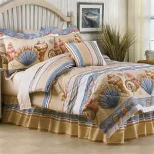 Seashell Comforter Tropical Beach Blue Sea Shell Bedding Nautical Coastal 8
