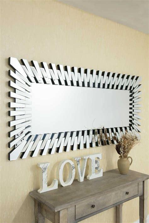 large wall mirror modern unique  sunburst  glass