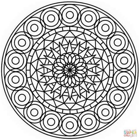 Abstract Mandala Coloring Pages abstract mandala coloring page free printable coloring pages