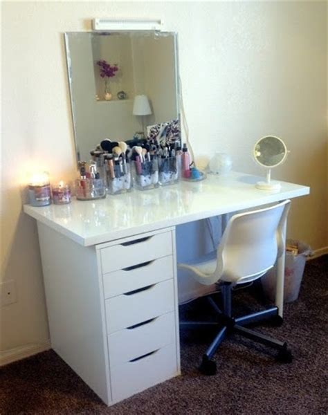 vanity chair ikea great ikea combo vanity desk via kaykre i have that same