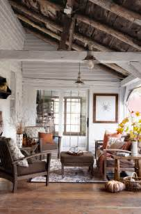 Floor And Home Decor Plank Floor Rustic Ceiling White Walls Home Decorating Diy