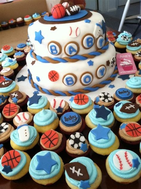 Sports Theme Baby Shower Cake by Sports Themed Baby Shower Cakes Sports Themed Baby