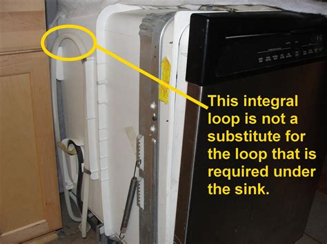 dishwasher connection to sink the most common dishwasher installation defect